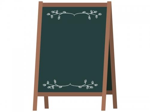 カフェの看板風黒板フレーム飾り枠イラスト02