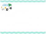 軽トラックの波線上下フレーム飾り枠イラスト
