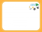 軽トラックのオレンジ点線フレーム飾り枠イラスト