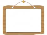 木の看板のフレーム飾り枠イラスト02