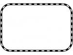 線路の白黒四角フレーム飾り枠イラスト