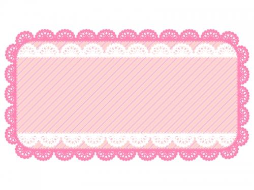レース編み・ドイリーの飾り枠フレームイラスト