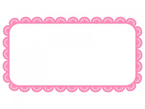 レース編み・ドイリーの飾り枠フレームイラスト02
