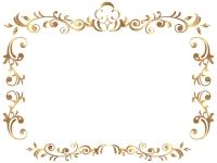エレガントなゴールドのフレーム飾り枠イラスト02