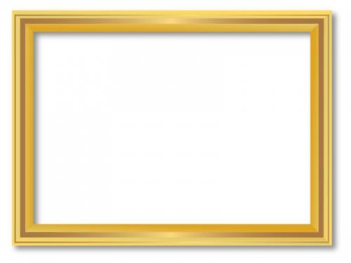 額縁風のフレーム飾り枠イラスト