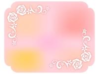 エレガントなバラ(薔薇)のフレーム飾り枠イラスト
