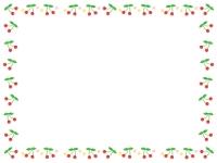 さくらんぼのフレーム飾り枠イラスト