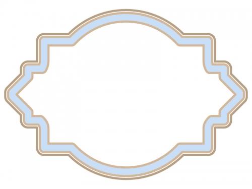 ラベル風デザイン飾り枠フレームイラスト05