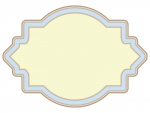 ラベル風デザイン飾り枠フレームイラスト06