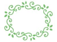 くるくるした蔦のフレーム飾り枠イラスト