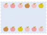 カントリー風柄のりんごのフレーム飾り枠イラスト