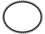 レース編み・ドイリーの白黒飾り枠フレームイラスト02