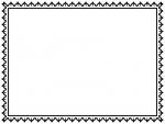 レース編み・ドイリーの白黒飾り枠フレームイラスト03