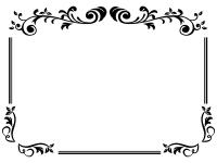 エレガントな白黒のフレーム飾り枠イラスト