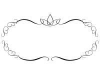 白黒のエレガントなシンプルフレーム飾り枠イラスト