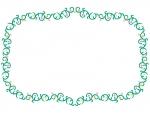 くるくるした蔦と花の囲みフレーム飾り枠イラスト02
