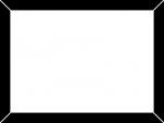 額縁風の白黒フレーム飾り枠イラスト02