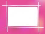 ふんわりとしたピンク系のフレーム飾り枠イラスト