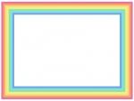虹の四角フレーム飾り枠イラスト