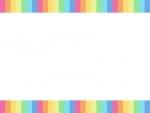 虹色の上下フレーム飾り枠イラスト