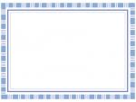 四角模様の青いフレームの飾り枠イラスト