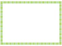 四角模様の緑色フレームの飾り枠イラスト