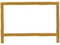 シンプルな木の看板のフレーム飾り枠イラスト