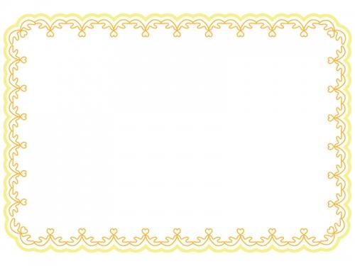 シンプルなレースのフレーム飾り枠イラスト02