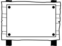 木の立て看板の白黒フレーム飾り枠イラスト02