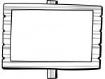 木の立て看板の白黒フレーム飾り枠イラスト03