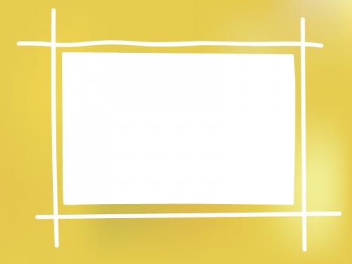 ふんわりとした金色のフレーム飾り枠イラスト