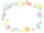 ふんわり水玉模様のフレーム飾り枠イラスト