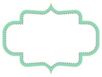 ラベル風デザイン飾り枠フレームイラスト08