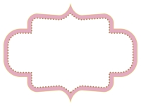 ラベル風デザイン飾り枠フレームイラスト09
