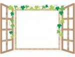 洋風の窓のフレーム飾り枠イラスト02