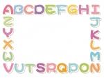 かわいいアルファベットの囲みフレーム飾り枠イラスト