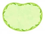 枝豆の形の黄緑色囲みフレーム飾り枠イラスト