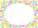 金平糖の楕円フレーム飾り枠イラスト