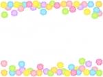 金平糖の上下フレーム飾り枠イラスト