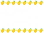 上下に並んだパイナップルのフレーム飾り枠イラスト