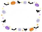 ハロウィンの囲みフレーム飾り枠イラスト