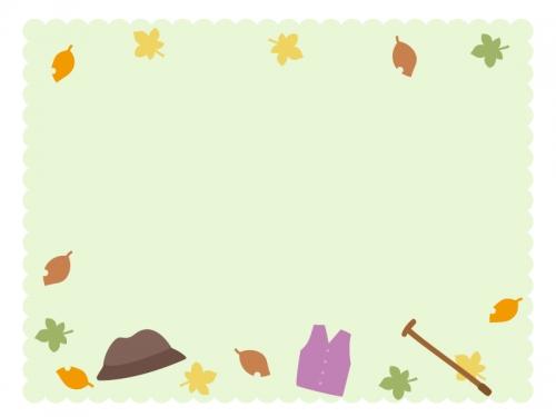 敬老の日・淡い緑色のモコモコフレーム飾り枠イラスト