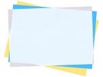 重なった斜めの用紙フレーム飾り枠イラスト04