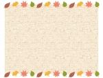 上下の落ち葉と布のフレーム飾り枠イラスト