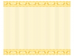 黄色い小鳥柄のレースのフレーム飾り枠イラスト