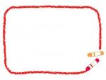 クレヨンの赤い手書き風フレーム飾り枠イラスト
