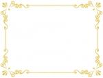 エレガントなゴールドのフレーム飾り枠イラスト04