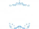 ハイヒールとティアラ風の縦長フレーム飾り枠イラスト