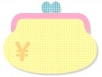 お財布の形のフレーム飾り枠イラスト