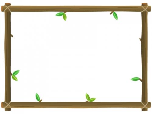 木の看板風フレーム飾り枠イラスト02